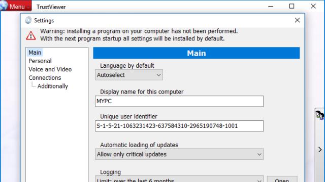 TrustViewer for Windows 10 Screenshot 3
