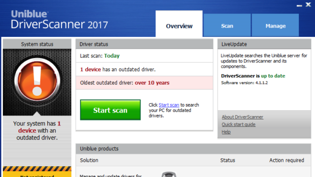 Uniblue DriverScanner for Windows 10 Screenshot 1