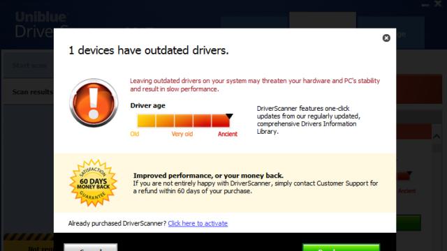 Uniblue DriverScanner for Windows 10 Screenshot 3