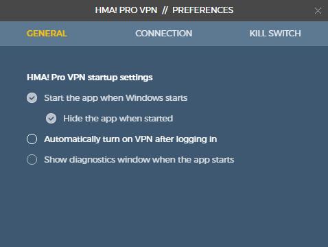 HMA! Pro VPN for Windows 10 Screenshot 2
