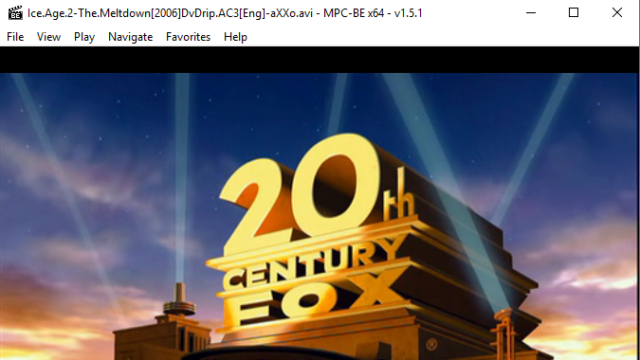 Media Player Classic – BE (MPC-BE) for Windows 10 Screenshot 2