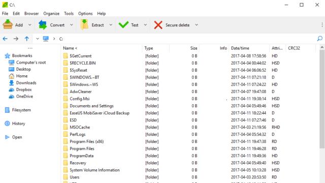 PeaZip for Windows 10 Screenshot 1