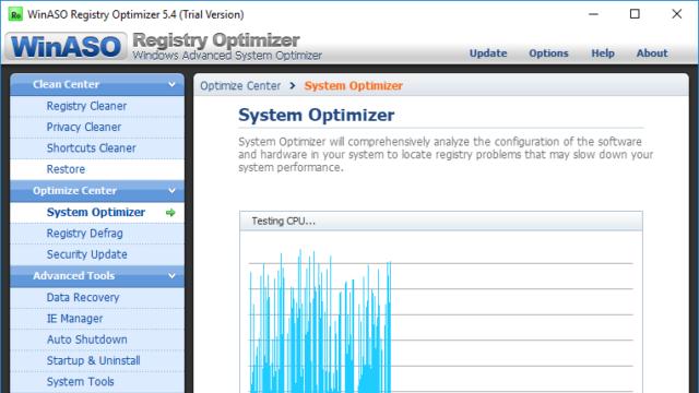 WinASO Registry Optimizer for Windows 10 Screenshot 3