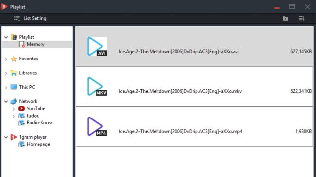 1gram player for Windows 10 Screenshot 3