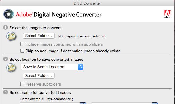 Adobe DNG Converter for Windows 10 Screenshot 1