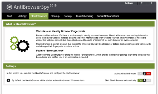 AntiBrowserSpy for Windows 10 Screenshot 3