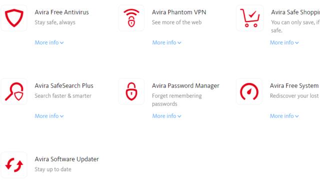 Avira Free Security Suite for Windows 10 Screenshot 1