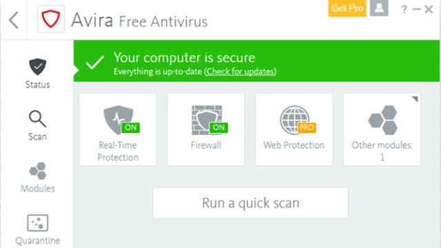 Avira Free Security Suite for Windows 10 Screenshot 2