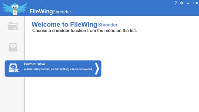 FileWing Shredder for Windows 10 Screenshot 1