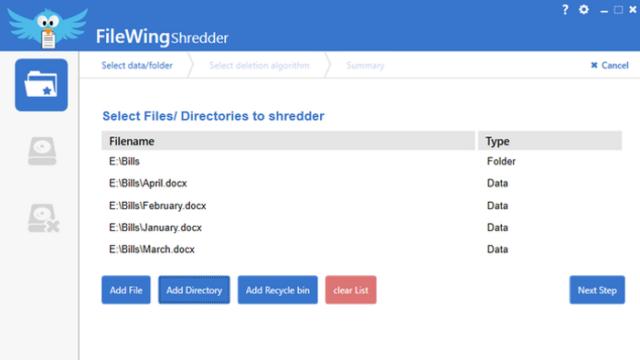 FileWing Shredder for Windows 10 Screenshot 2