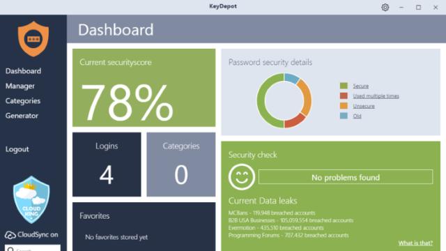 KeyDepot for Windows 10 Screenshot 2