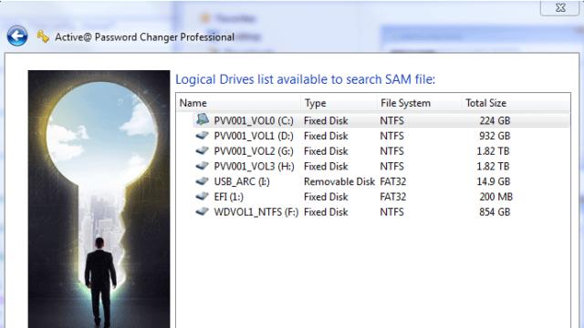 Active@ Password Changer for Windows 10 Screenshot 1