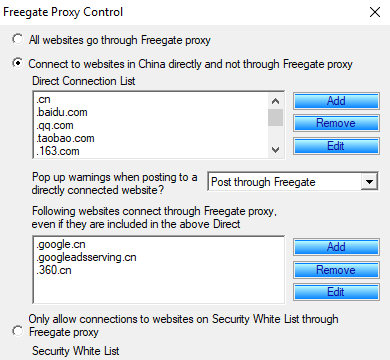 Freegate for Windows 10 Screenshot 2