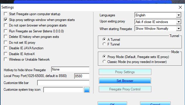 Freegate for Windows 10 Screenshot 3