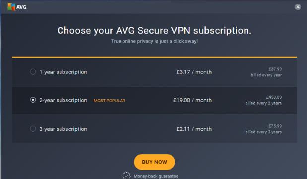 AVG Secure VPN for Windows 10 Screenshot 1