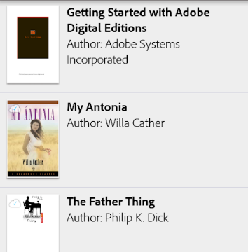 Adobe Digital Editions for Windows 10 Screenshot 1