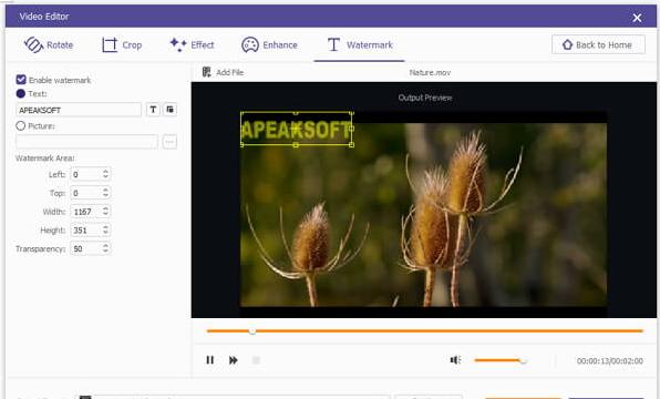 Apeaksoft Video Editor for Windows 10 Screenshot 1