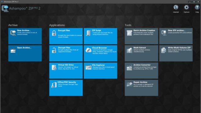 Ashampoo ZIP for Windows 10 Screenshot 1