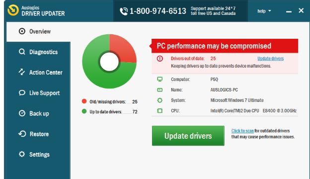 Auslogics Driver Updater for Windows 10 Screenshot 1