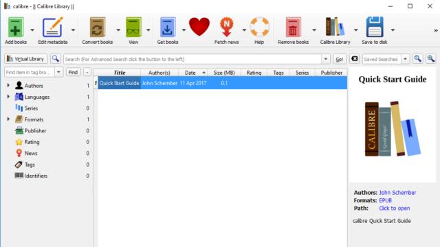 Calibre for Windows 10 Screenshot 1