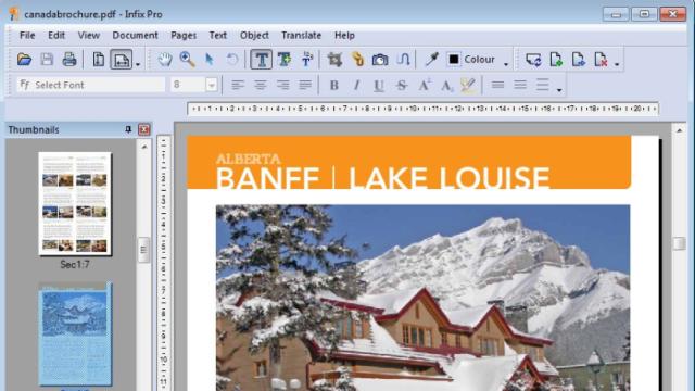 Infix PDF Editor for Windows 10 Screenshot 1