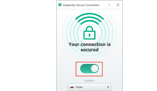 Kaspersky Secure Connection for Windows 10 Screenshot 1