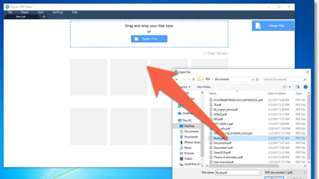 Movavi PDF Editor for Windows 10 Screenshot 1