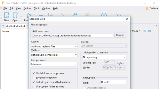 PowerArchiver for Windows 10 Screenshot 3
