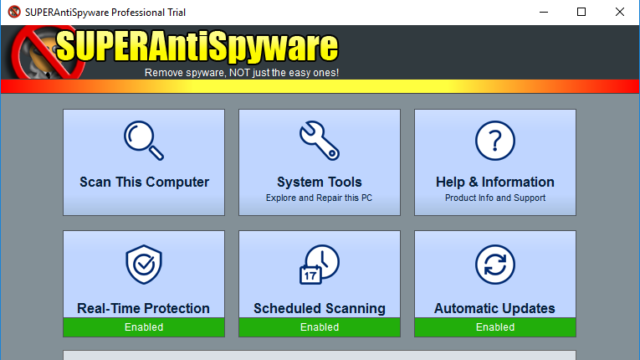 SUPERAntiSpyware Free Edition for Windows 10 Screenshot 1