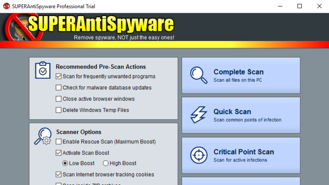 SUPERAntiSpyware Free Edition for Windows 10 Screenshot 2