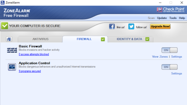 ZoneAlarm Free Firewall for Windows 10 Screenshot 2