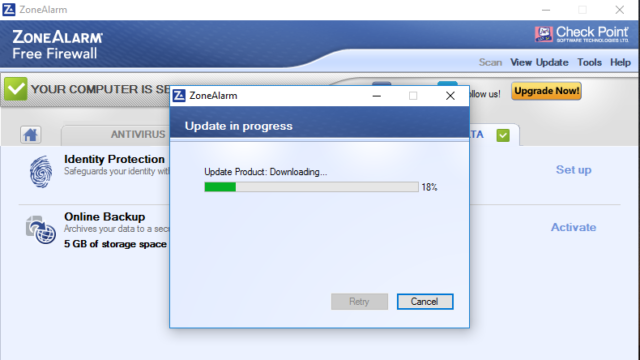 ZoneAlarm Free Firewall for Windows 10 Screenshot 3