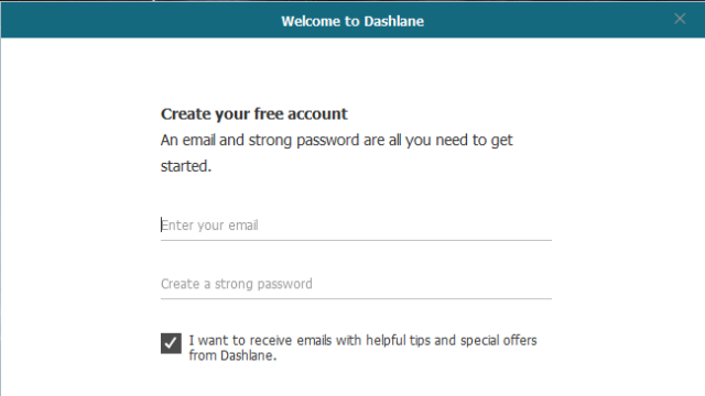 Dashlane for Windows 10 Screenshot 2