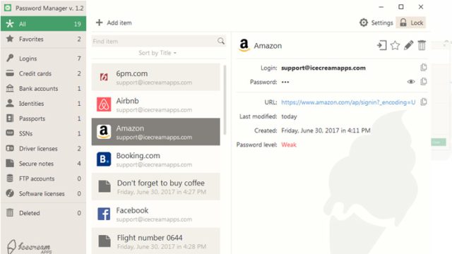 Icecream Password Manager for Windows 10 Screenshot 1
