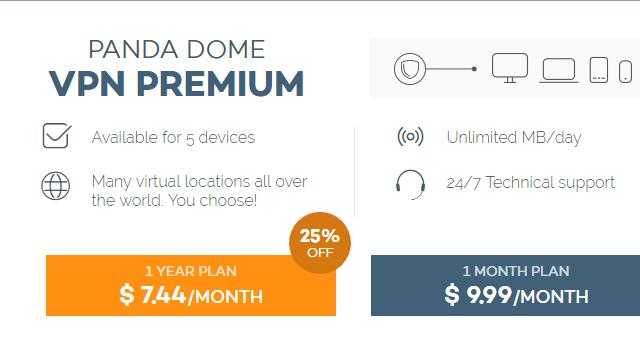 Panda Dome Free VPN for Windows 10 Screenshot 1
