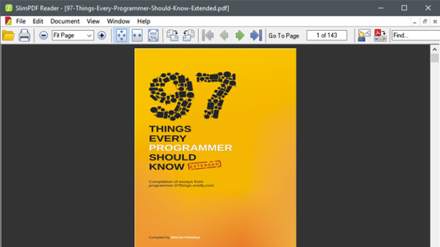 Slim PDF Reader for Windows 10 Screenshot 1