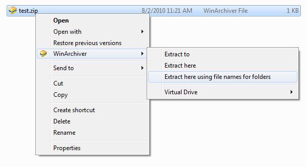 WinArchiver for Windows 10 Screenshot 1