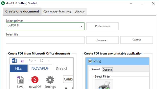 doPDF for Windows 10 Screenshot 1