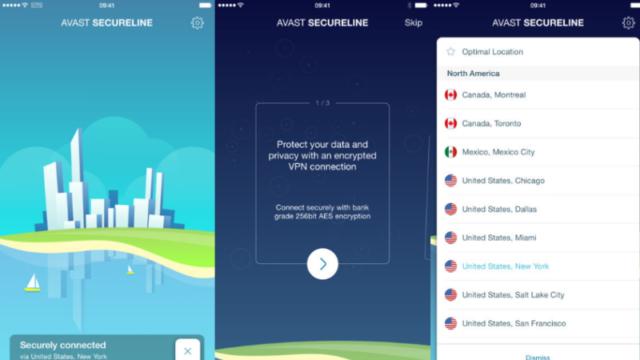 Avast SecureLine VPN for Windows 10 Screenshot 1
