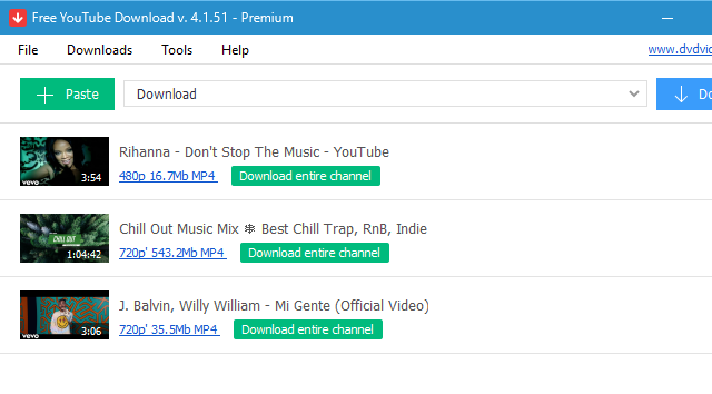DVDVideoSoft Free YouTube Download for Windows 10 Screenshot 1