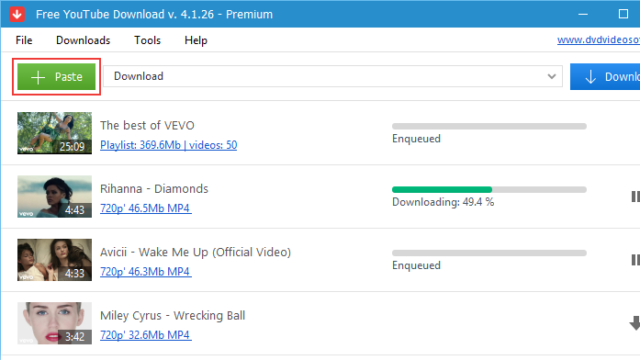 DVDVideoSoft Free YouTube Download for Windows 10 Screenshot 2