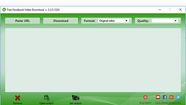 Free Facebook Video Downloader for Windows 10 Screenshot 1