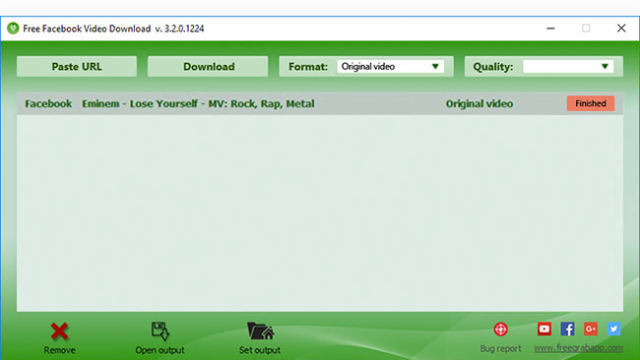 Free Facebook Video Downloader for Windows 10 Screenshot 2