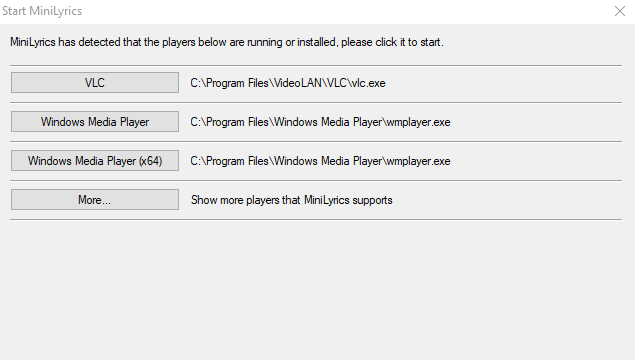 MiniLyrics for Windows 10 Screenshot 1