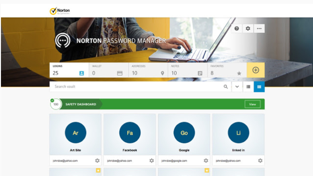 Norton Password Manager for Windows 10 Screenshot 2