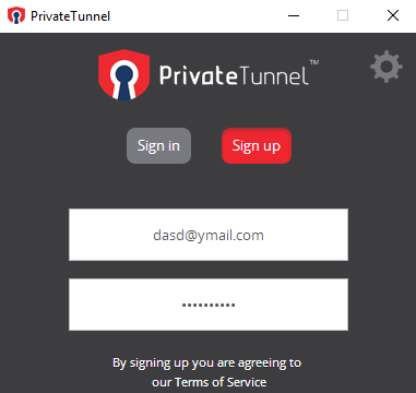 Private Tunnel for Windows 10 Screenshot 1