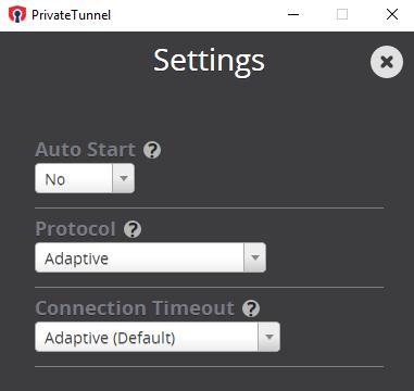 Private Tunnel for Windows 10 Screenshot 2