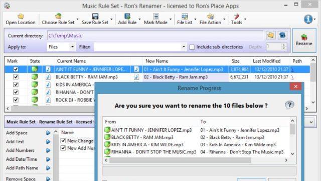 Ron's Renamer for Windows 10 Screenshot 1