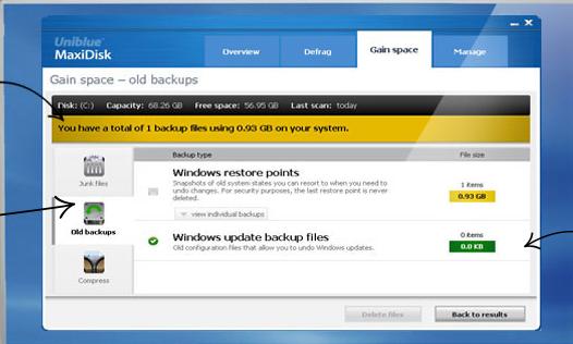 Uniblue MaxiDisk for Windows 10 Screenshot 1