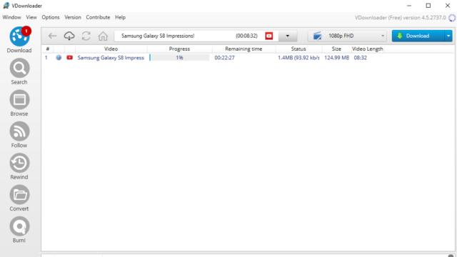 VDownloader for Windows 10 Screenshot 2